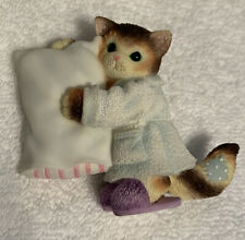 Enesco Calico Kittens Pillow What Cat Doesn't Like To Sleep 104079 With Box