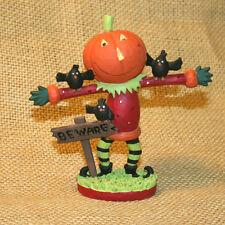 Pumpkin Man Blossom Bucket Resin Figurine Vicky Hutto