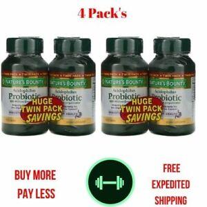 4 Pack's Acidophilus Probiotic, 100 Tablets Digestive Health (400 Tablets )