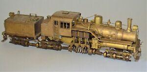 HO Brass 3-Truck Willamette Shay-type Geared Locomotive NWSL/Fuji 1969 Runs Well
