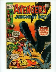 Avengers #90 1971 GD/VG Low grade Judgment Day Part 2 of 9 Captain Marvel