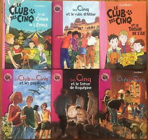 LOT DE 6 VOLUMES BIBLIOTHEQUE ROSE / LE CLUB DES CINQ