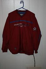 CCM Center Ice Authentic Colorado Avalanche Pullover Windbreaker Jacket M