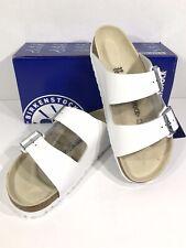 Birkenstock Arizona BS Women's Sz 8 (EU39)Reg Fit White Leather Sandals KB-1860