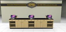 Retail Sales Counter, Transaction, Checkout, Cash Wrap, Store, Modular Cabinets