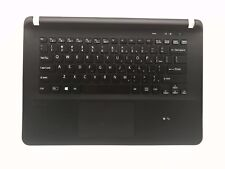 New US black keyboard for Sony SVF142C29U Palmrest with touchpad with backlit