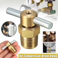 "2PCS 1/4"" NPT Thread Brass Drain Valve For Air Compressor Tank Replacement"
