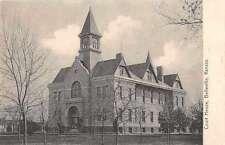 Belleville Kansas birds eye view St Clair Co Court House antique pc Z23578