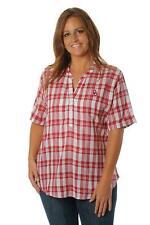 Oklahoma Sooners Plaid Top Shirt UG Apparel NCAA College Womens Size 3x