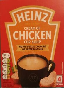 HEINZ 2 x 4 Cream Of Chicken Cup Soup Instant Soup Instant Soup
