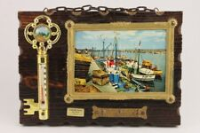 Vintage French Dune Of Pilat Wall Key Hanger & Thermometer