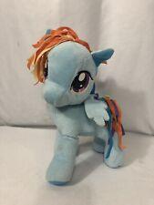 "My Little Pony Deluxe Rainbow Dash 11"" Plush Hasbro 2012 Stuffed Animal Blue"