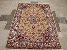 Love Medallion Floral Oriental Area Rug Hand Knotted Wool Silk Carpet (6 x 4)'