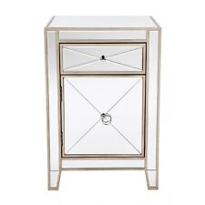 Apolo Bedside antique Gold Mirror side table Mirrored furniture mirror bedside