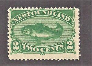 Newfoundland Sc 47 2c Green Mint Slight Album Adherence Sound Per Scans (SEP21