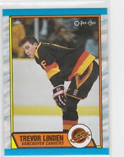 1989-90 O-Pee-Chee #89 Trevor Linden Rookie Card RC Vancouver Canucks