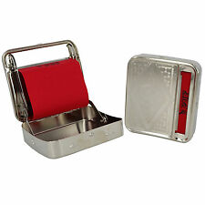 Automatic Rolling Machine Silver Tin Box Metal Roller Cigarette Tobacco Roll Up