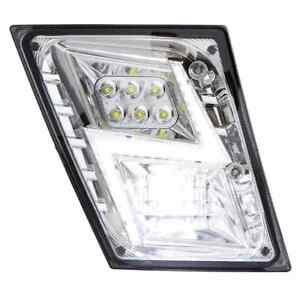 Volvo VNL LED Fog Light Lightning Design Chrome    Pair   (LH+RH)   Fits 03-17