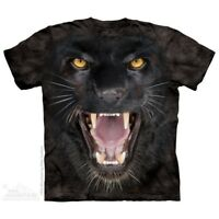 Aggressive Panther T-Shirt by The Mountain. Big Face Zoo Animal Sizes S-5XL NEW