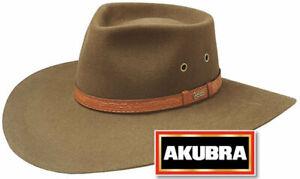 Akubra Territory Wide Brim Felt Hat - Khaki