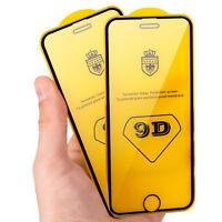 2x 9D Full Hartglas Shutzglas 9H Schutzglas Glasfolie für iPhone 7 8 6s Xs Max