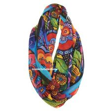Laurel Burch Feline Family Infinity Neck Scarf Multi-Color Black New 2018