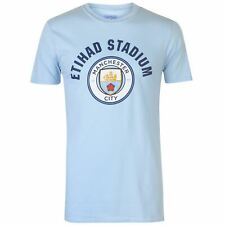 Source Lab Manchester City FC T-Shirt Mens Gents Crew Neck Tee Top Short Sleeve