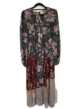 Zimmermann Unbridled Floral Pleated Long Dress Size 2 (10-12)