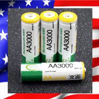 LOT 4 PILES NI-MH rechargeables BATTERIES ACCU LR06 AA 3000 mAh Neuves