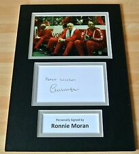 RONNIE MORAN HAND SIGNED AUTOGRAPH A4 PHOTO MOUNT DISPLAY LIVERPOOL GIFT & COA