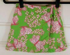 Lilly Pulitzer Kids Sz 6 Green & Pink Butterfly Wrap Skirt
