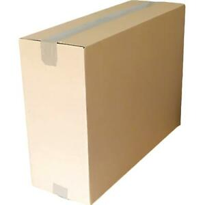 "23x8x16"" Brown Postal Cardboard Boxes Royal Mail Medium Parcel Shipping Carton"