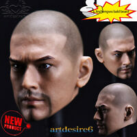 "1/6 Scale Male Head Sculpt Carving Asian star Jinchengwu bald beard Ver.12""Body"