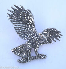 Eagle / Hawk Bird Hand Made in Uk Pewter Lapel Pin Badge