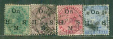 India Victoria Service (4 SMALL)USED-STAMP PACKET