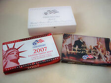 2007 U.S. MINT SILVER PROOF SET WITH BOX AND COA FROM ORIGINAL OWNER!