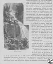 Krimml Krimmler Wasserfälle HOLZSTICH von 1880