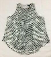 NWT Ann Taylor LOFT Black White Career SHIRT/BLOUSE Shirt Size XXSP