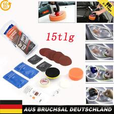 15*Auto Frontscheinwerfer Reparatur Polier Satz für Scheinwerfer Politur Set DE
