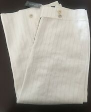 NWT $98 WHITE HOUSE BLACK MARKET Wide Leg Cropped Striped Culotte Pants 2 (XS)