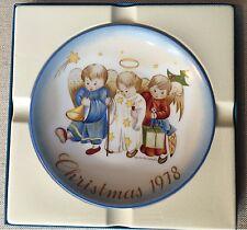 "Schmidt 1978 Christmas plate ""Heavenly Trio"" Berta Hummel"