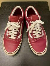 Vans Old Skool Leather red size 10
