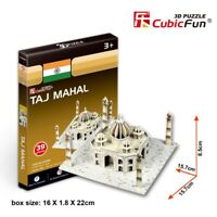 World's Great Architecture Taj Mahal 39 Piece 3D Model DIY Hobby Build Kit