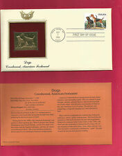 22kt Golden Replica Stamp - Dogs - Coonhound American Foxhound - 1984 Fdc / Fdi