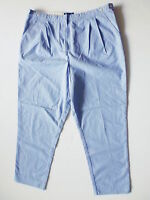 Fred Perry Damen Hose,High Waisted Trousers,Blau  Reine Baumwolle GR;D 42; EUR44