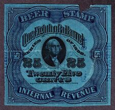 Us Rea58 25c Beer Revenue Stamp Used Vf Scv $110 (-003)