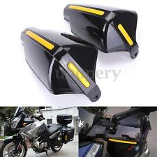"2x Universal 7/8"" 22mm Motorcycle Bike Handguards Hand Guards Protectors Black"