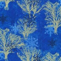 WINTER FOREST BLUE Cotton Print by FABRI QUILT  BTY