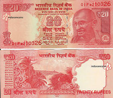 2012 UNC P 104 REPLACEMENT Banknote #Prefix 0CC* Issue L India 50 Rs