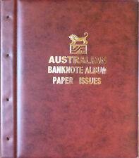 AUSTRALIAN DECIMAL PAPER BANKNOTE ALBUM RED Colour - 1966 to Present